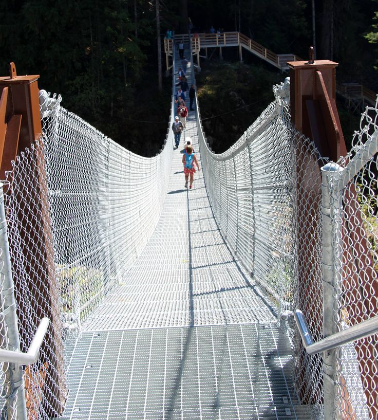 Adventures in Elk Falls Provincial Park on Vancouver Island: http://blog.hellobc.com/elk-falls-provincial-park-offers-hiking-camping-fishing-shiny-new-suspension-bridge/