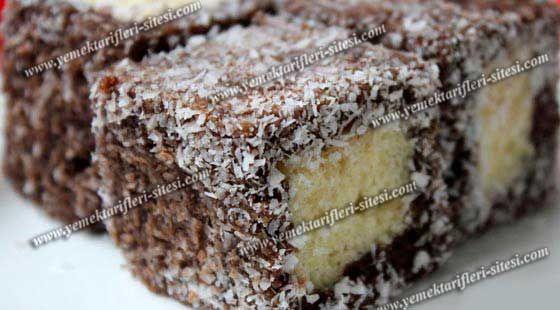 Çikolatalı Lamington Kek Tarifi