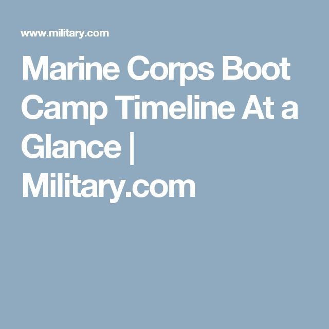 Marine Corps Boot Camp Timeline At a Glance | Military.com