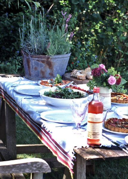 summer garden lunch
