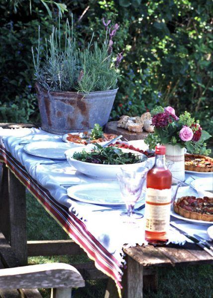 outdoor dinner.