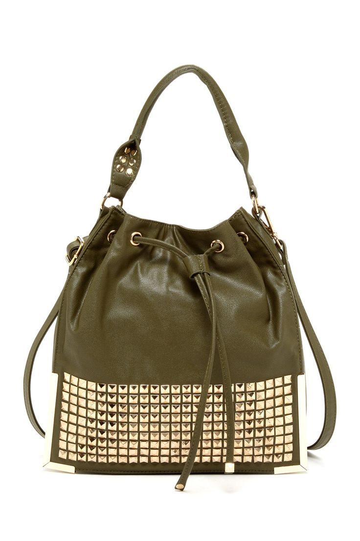 Studded Framed Bucket Bag