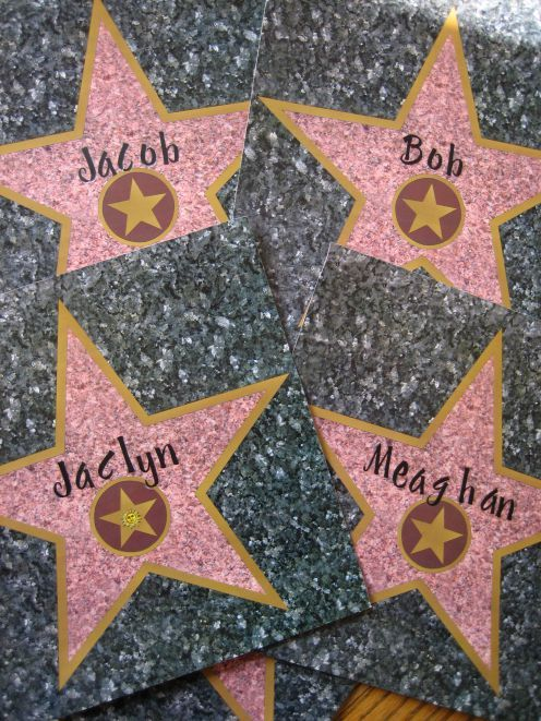 Stars With Guests Names. Make your own star print.