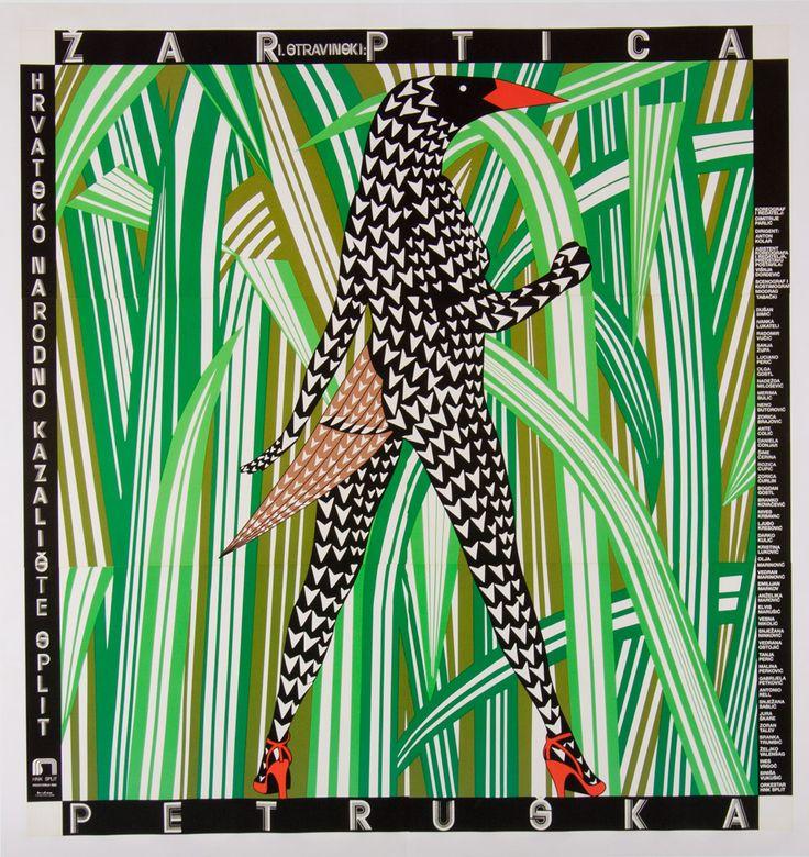 Bam! Boris Bucan's 'Firebird Petrushka' still packs a graphic punch.   #borisbucan #art #fineart #grahpic #croatia