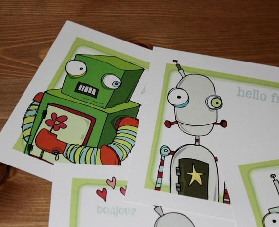 Friendly Robot Notecards – leahmcr8