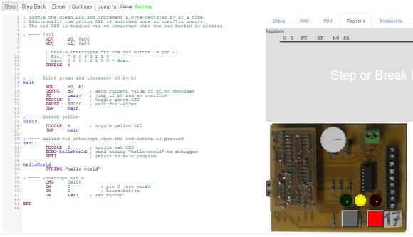 Learning Assembly with a Web Based Assembler