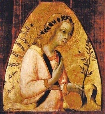 Sano di Pietro (1406-1481) Angel c 1450