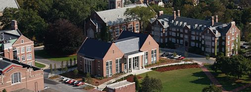 Worcester Polytechnic Institute - A view of the Bartlett Center, Sanford Riley Hall, and the Quad.