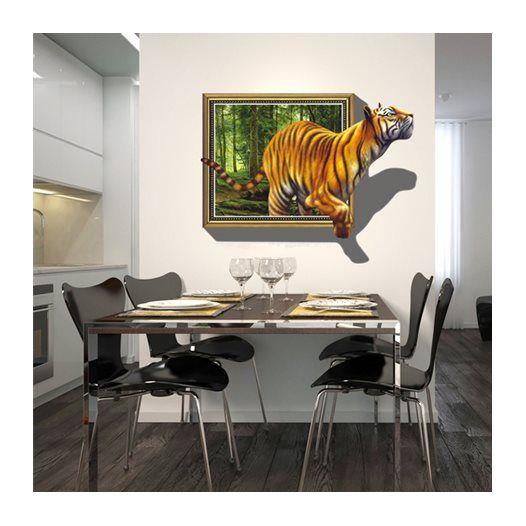 Hemdekor - Väggdekor Tigern i fönstret