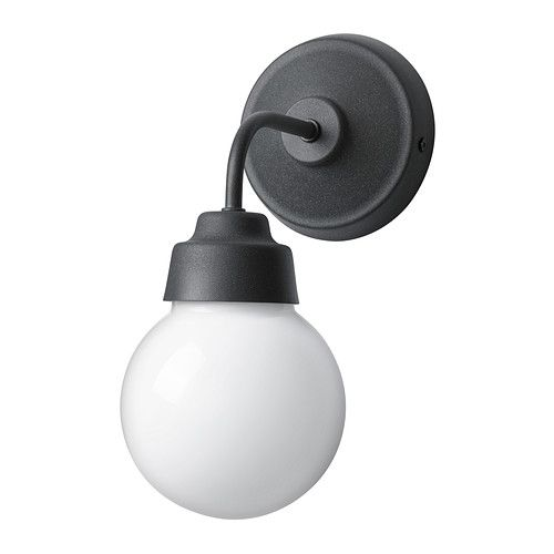 IKEA - VITEMÖLLA, Wall lamp, Gives a diffused light which is good for spreading light into larger areas of a bathroom.Can be mounted with the light turned up or down.