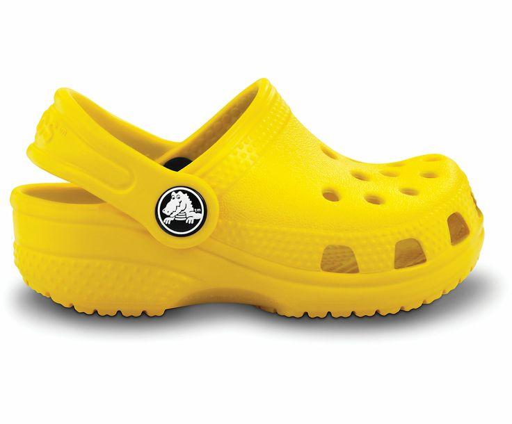 Girls' Baby Shoes | Children's Size 2/3 | $19.99 | #Yellow #Pretty in Yellow #Shoes #Crocs For fun yellow styles, visit http://www.crocs.com/crocs-shoes/footwear,default,sc.html?prefn1=refinementColor&prefv1=Yellow