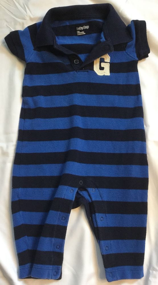 Gap Baby Boy Jumper Size 6-12 Months Blue And Black Short Sleeve Bodysuit  Gap  fashion  clothing  shoes  accessories  babytoddlerclothing   ... 31487f0a33