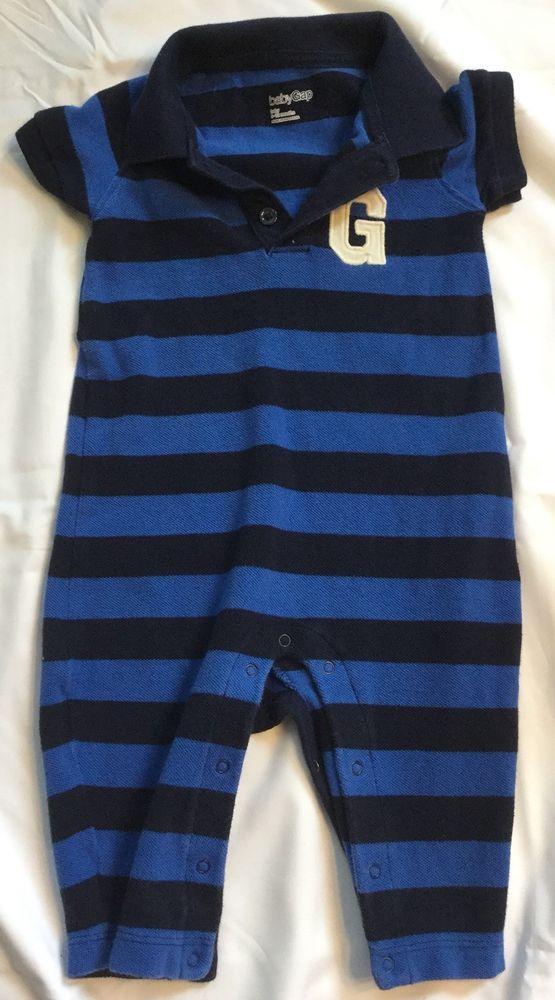 7e07987ab02c Gap Baby Boy Jumper Size 6-12 Months Blue And Black Short Sleeve ...