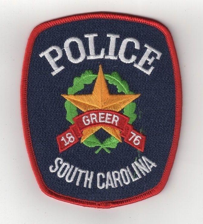 Greer Police Department shoulder patch South Carolina SC Sheriff