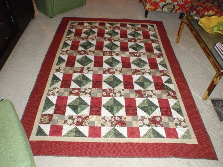 the boarder pieces from Mystery QUilt made another interesting one!