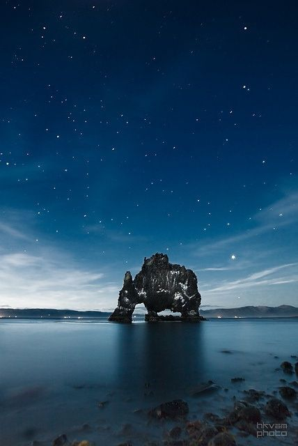 Rock formations on the beach in Iceland!