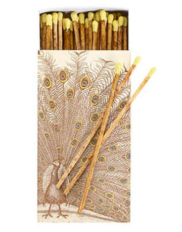 Peacock matches, $3. Homeart via areo.com
