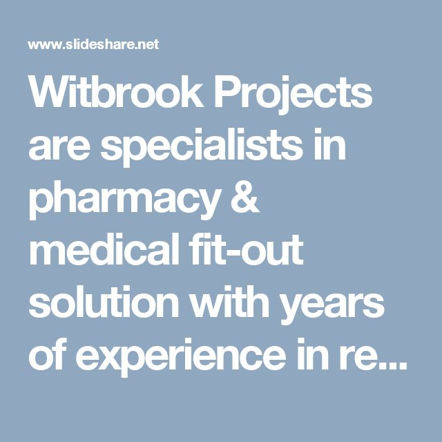 Witbrook Projects are specialists in pharmacy & medical fit-out solution with years of experience in refurbishing Medical Centers in Sydney, Perth, Melbourne, Adelaide, Brisbane, Tasmania.