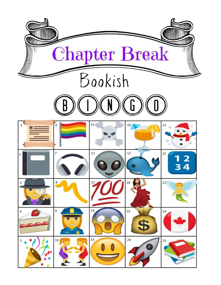 Welcome to the easiest challenge you'll find all year! Read books. Mark off squares. That's all it takes to participate in Bookish Bingo! Play along with us! In honor of World Emoji Day (July 17), we are going full on images this month for Bingo! It's completely open to your interpretation. You can consultthis page for ideas. I added a label grid at the bottom that Julie and I will be using. There are numbers for each square. List the numbers when sharing your qualifying books at the end of…