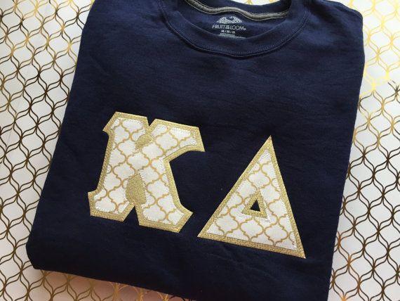 Greek Letter Sweatshirt Sorority Sweatshirt by LittleGreekBoutique