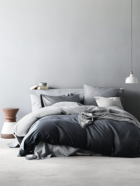 Nordic Mist Quilt Cover Set, $249, Aura Home