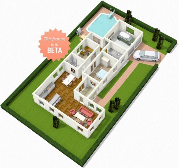 Plus 3d visuals casas planos de casas dise os de for Programma rendering free