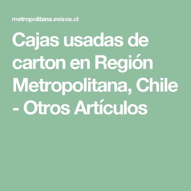 Cajas usadas de carton en Región Metropolitana, Chile - Otros Artículos