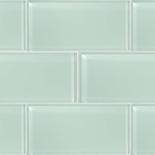 ocean spray glass subway tile for backsplash