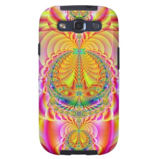 colorful fractal galaxy s3 covers