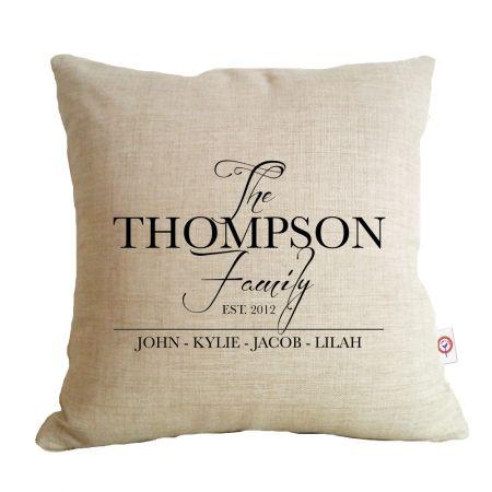 The family personalised cushion - hardtofind.
