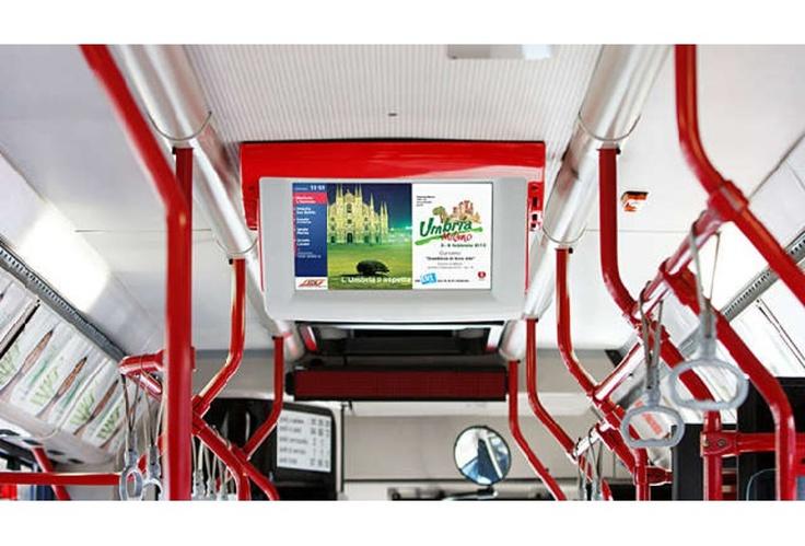 """E' la """"Moving TV"""" pensata per gli utenti del trasporto pubblico locale rendendo più piacevole l'esperienza di viaggio."""