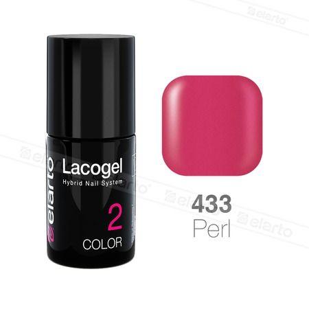 Lakier hybrydowy Lacogel nr 433 - magenta perła 7ml #lacogel #elarto #magenta #perła