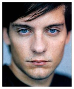 Tobey Maguire has abnormally large eyes.