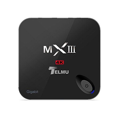 Telmu MXIII-G Intelligente Android TV Box Mini-PC-Stream Media Player, HEVC H.265, Quad-Core / Octa-Core ARM Mali-450 GPU, 2 GB / 16 GB, Ultra HD 4K, 1000M LAN, 2,4 GHz / 5 GHz Wireless-LAN, Amlogic S812, mit KODI ( XBMC)
