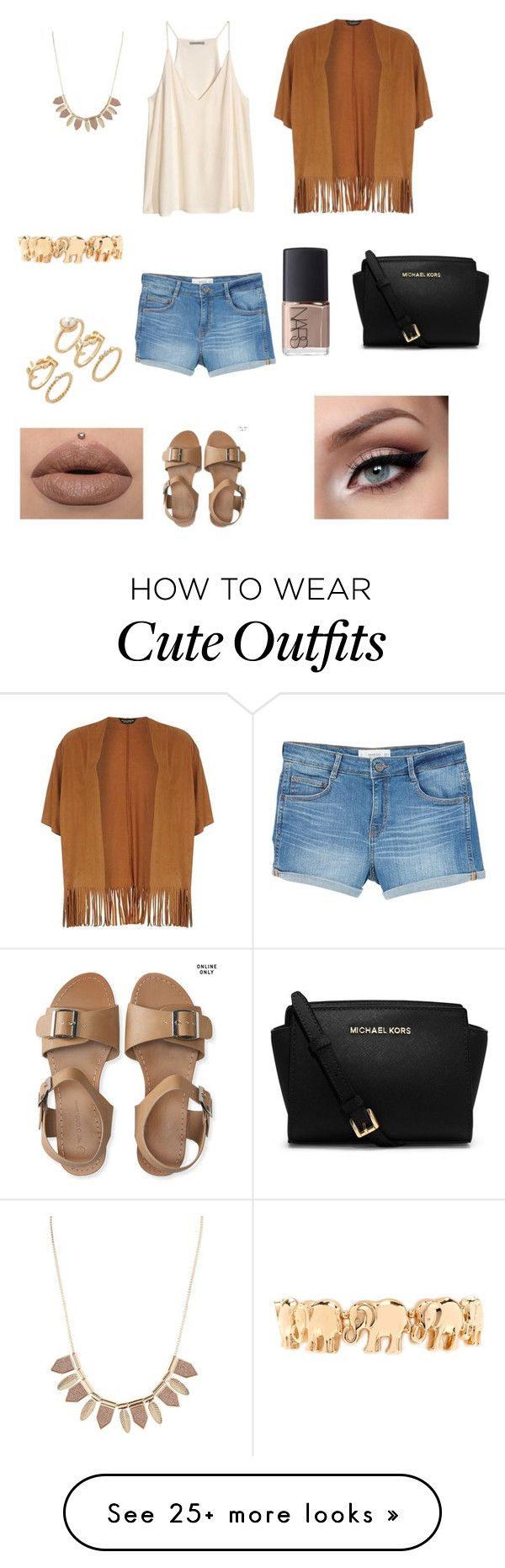 """""""Cute summer outfit"""" by princessrena on Polyvore featuring Dorothy Perkins, H&M, MANGO, Charlotte Russe, Aéropostale, Forever 21, NARS Cosmetics and Michael Kors"""