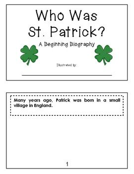 "Sample page from ""The Luck O' the Learning""  {St. Patrick's Day Literacy Fun}  18 pages,  $"