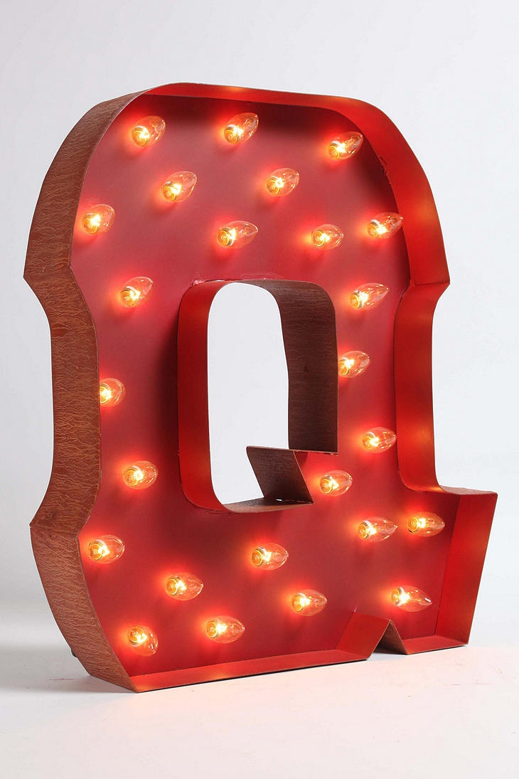 Marquee Alphabet Light - Clear