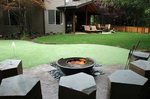 Putting Green Back Yard Landscaping Ideas