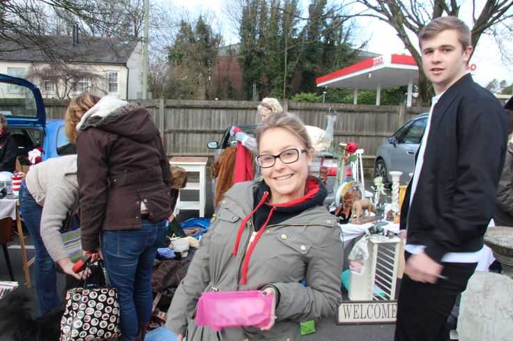 Nina and Matt at Winchester's Car Boot sale on Sunday (08/03/15) collecting money for charity and promoting apprenticeships
