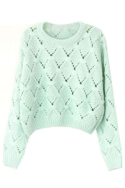 #Fresh V #Pattern #Sweater - OASAP.com