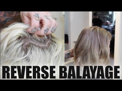 How To: REVERSE BALAYAGE TECHNIQUE To Add Depth To Overly BLONDE Hair - Tutorial - YouTube