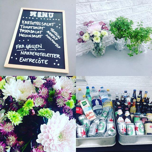 Lidt mere fest!  #fest #detaljer #blomster #menu #villalangtofte #2x31…