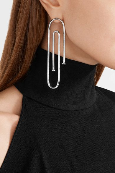 Jennifer Fisher - Long Pipe Silver-plated Earring - L