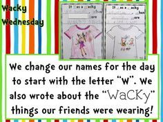 Wacky Wednesday ideas