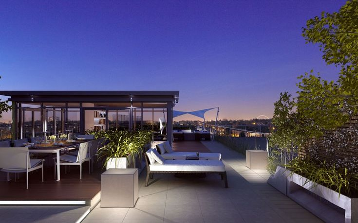 """Known as the """"penthouse for the outdoor entertainer"""", this apartment uses vast outdoor space by using balconies. The bathroom is marble and the kitchen is beautiful.  Guide price: 1.6 Million"""