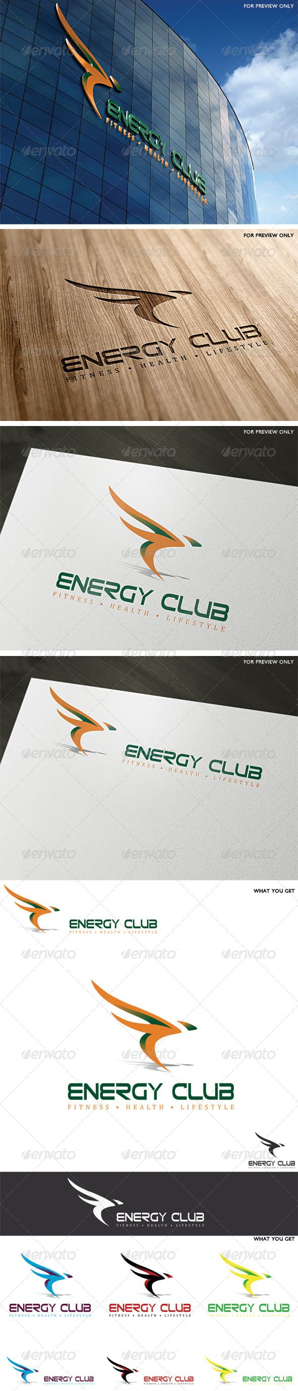 Energy Club Logo Template — Vector EPS #cycling #speed • Available here → https://graphicriver.net/item/energy-club-logo-template/4199225?ref=pxcr
