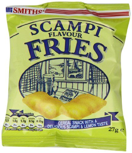 Mmmm, love Smith's scampi flavour fries crisps. But they do make your breath a bit stinky afterwards.  Worth it though! ;-)