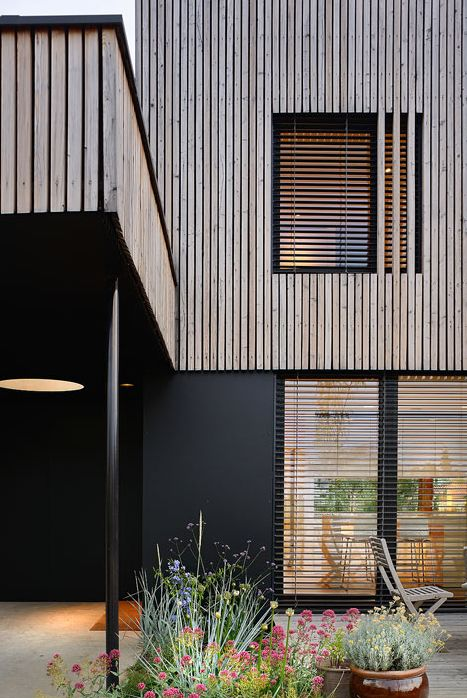Vertical Wooden Cladding ~ Images about rd year project facades on pinterest