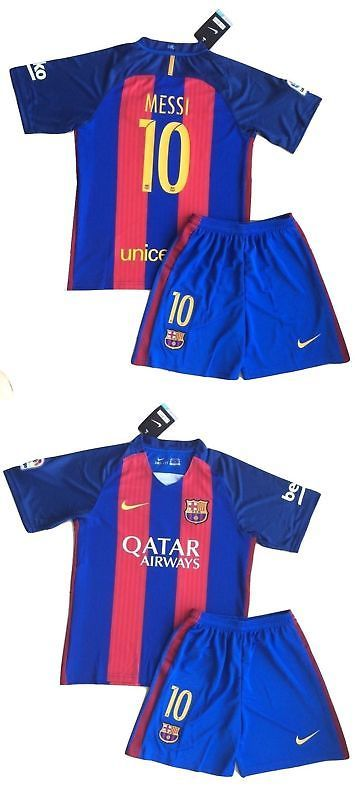 Youth 159099: New 2017 Messi #10 Barcelona Home Jersey And Shorts For Kids And Youths -> BUY IT NOW ONLY: $39.79 on eBay!