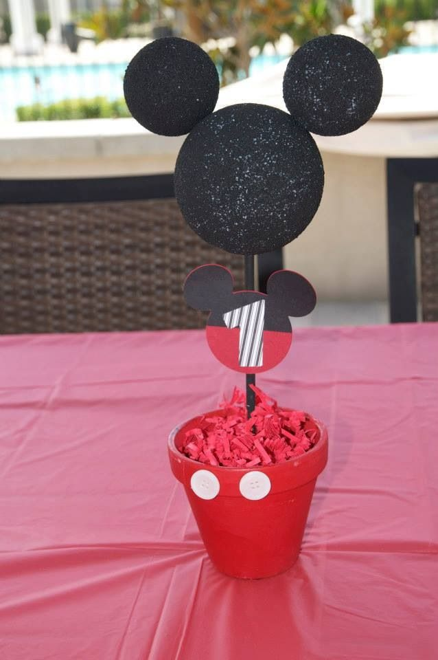 Mickey Mouse first birthday centerpiece